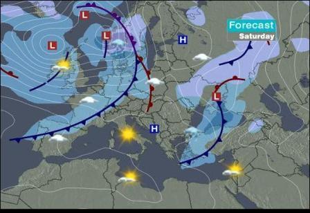 Wettervorhersage der CNN für die DDR am 30.11.´07