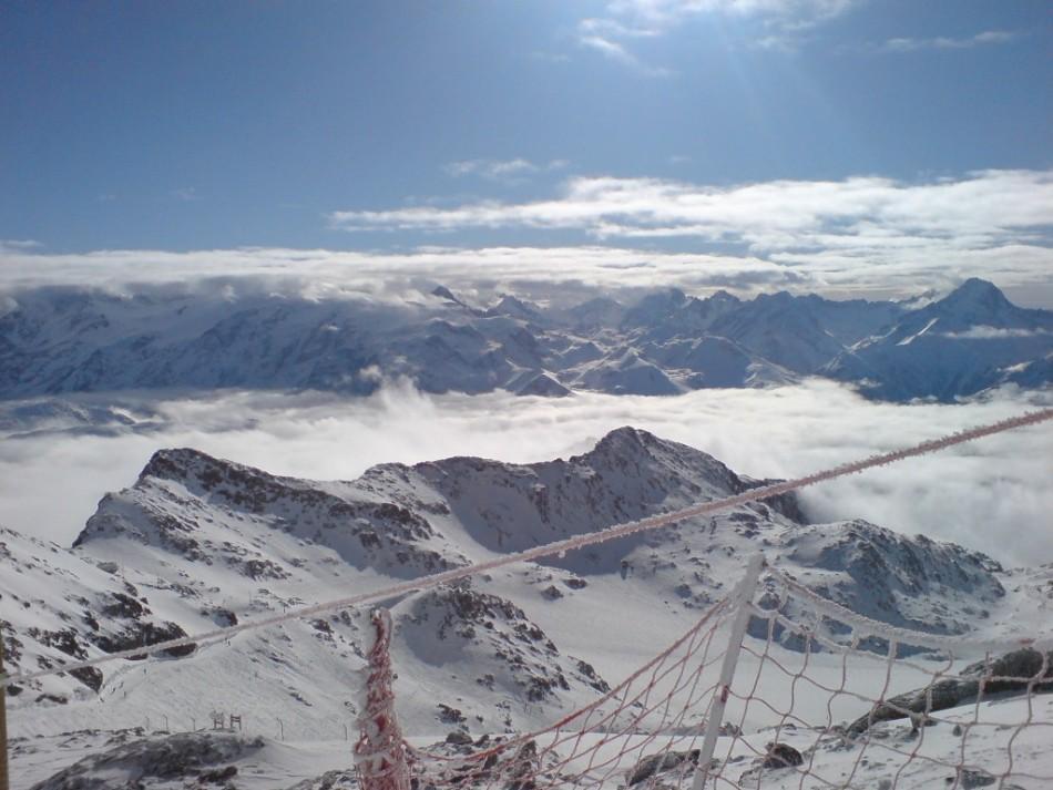 Blick auf die Französischen Alpen